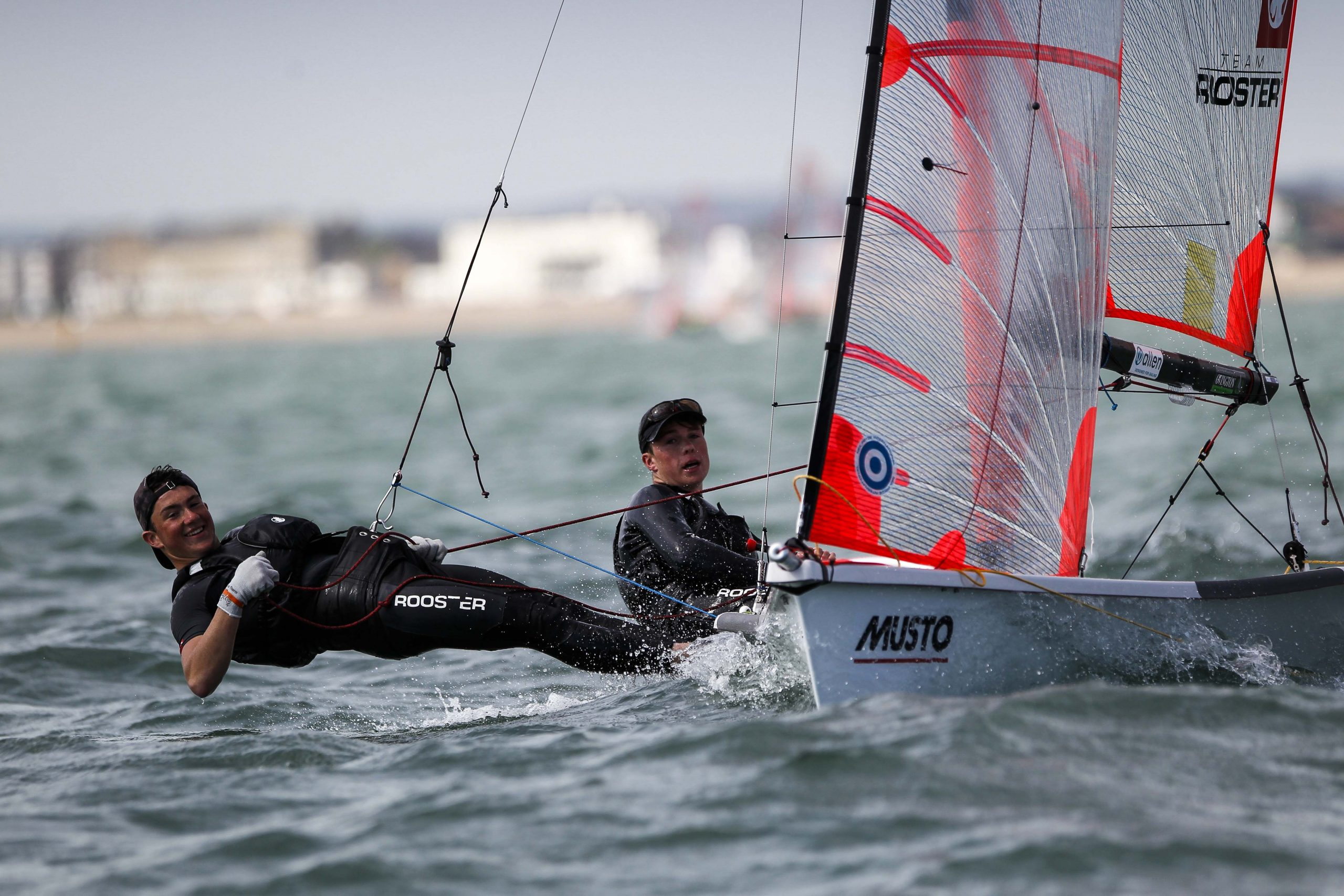 29er skiff being sailed by team allen sailors.