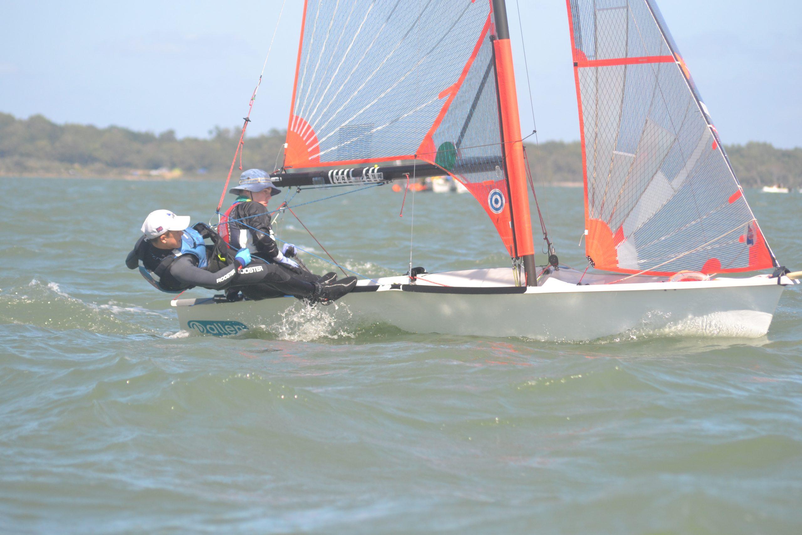 Sam Webb (Crew) & Nick Evans (Helm) Sailing 29er Skiff