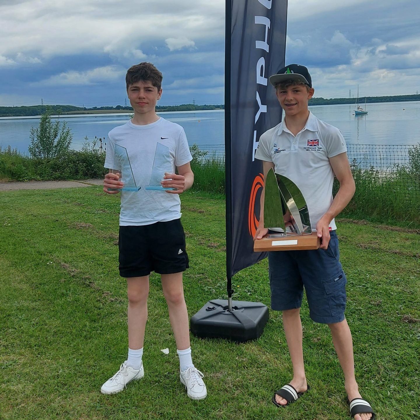 Nick Evans and Sam Webb at the Typhoon Trophy