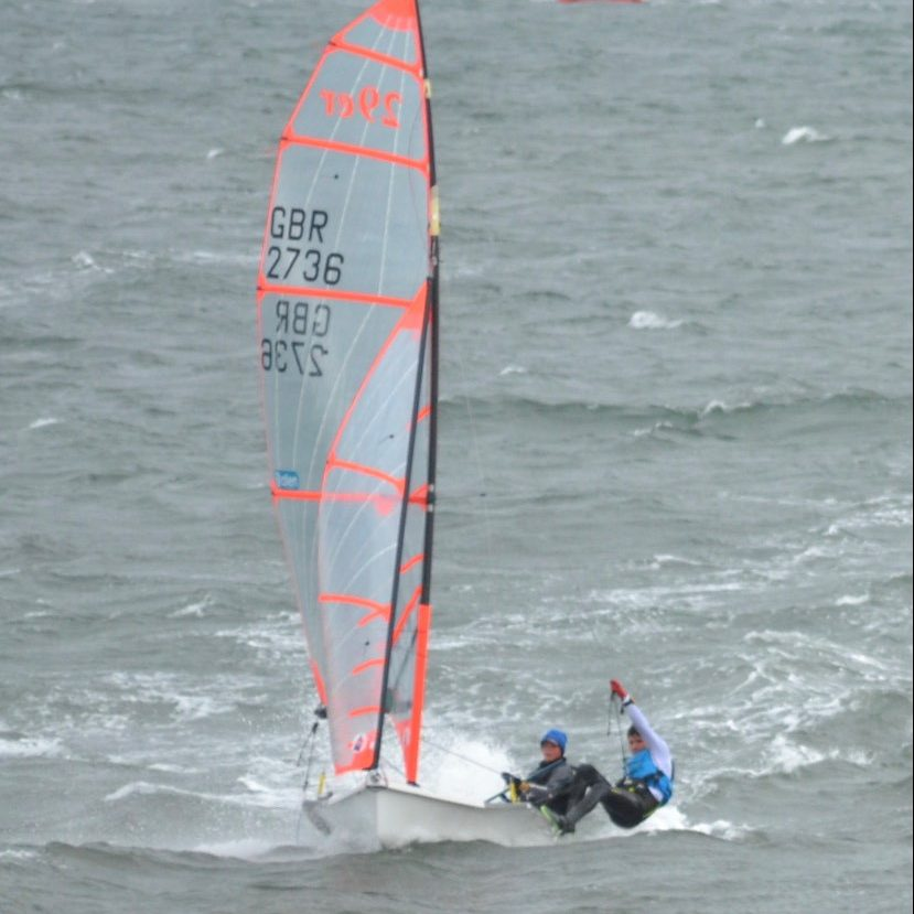 29er in windy conditions